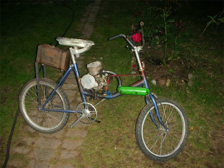 Как сделать из велосипеда мопед своими руками 65
